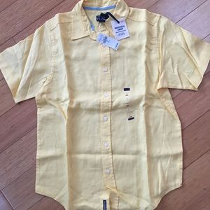 Children's place, short sleeve yellow shirt